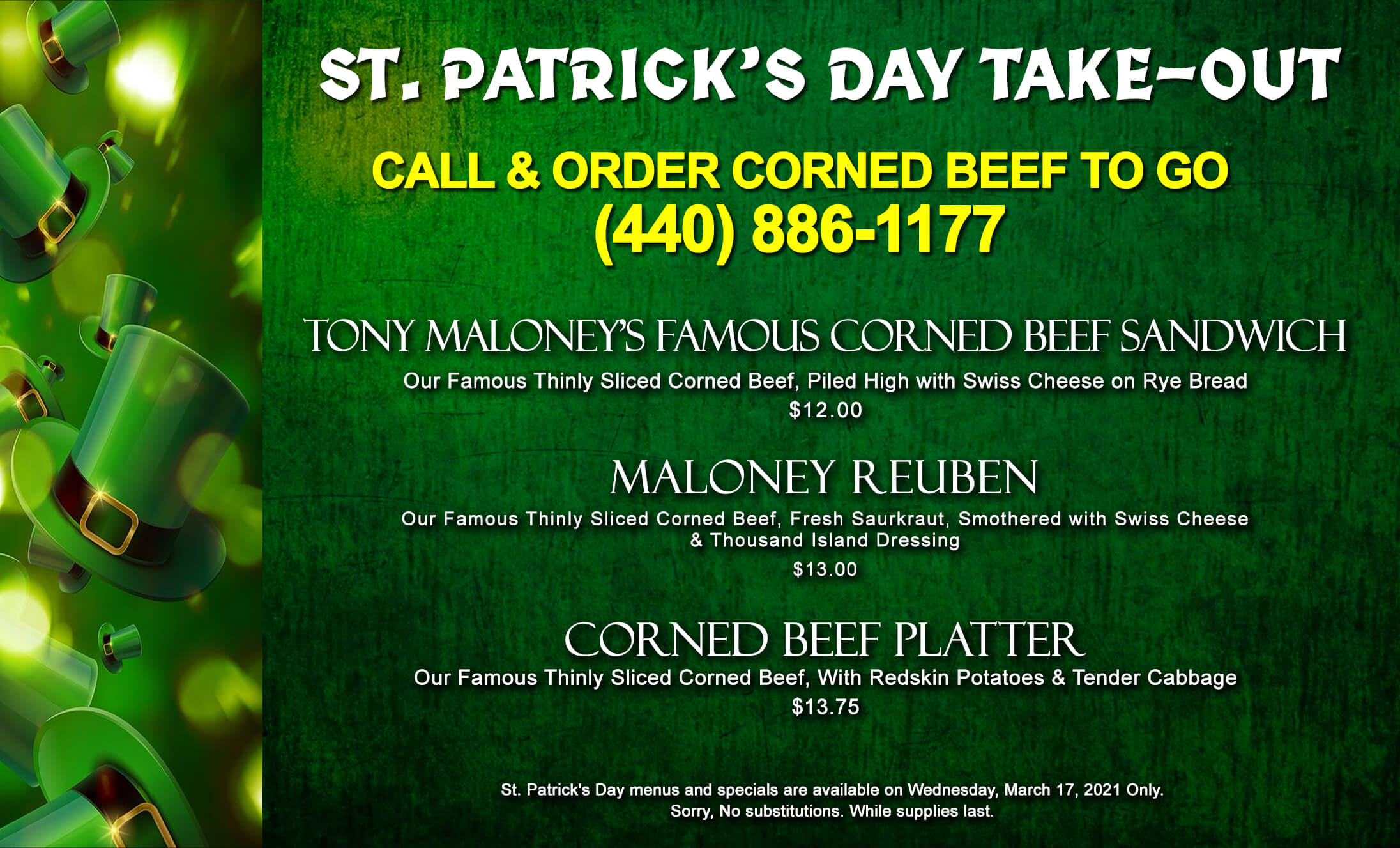 St Patty's Day Takeout